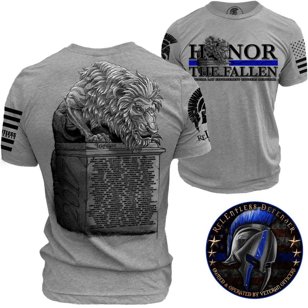 73923f53 ... enforcement support t shirt th; honor the fallen 100 proceeds donated to  national l e memorial ...