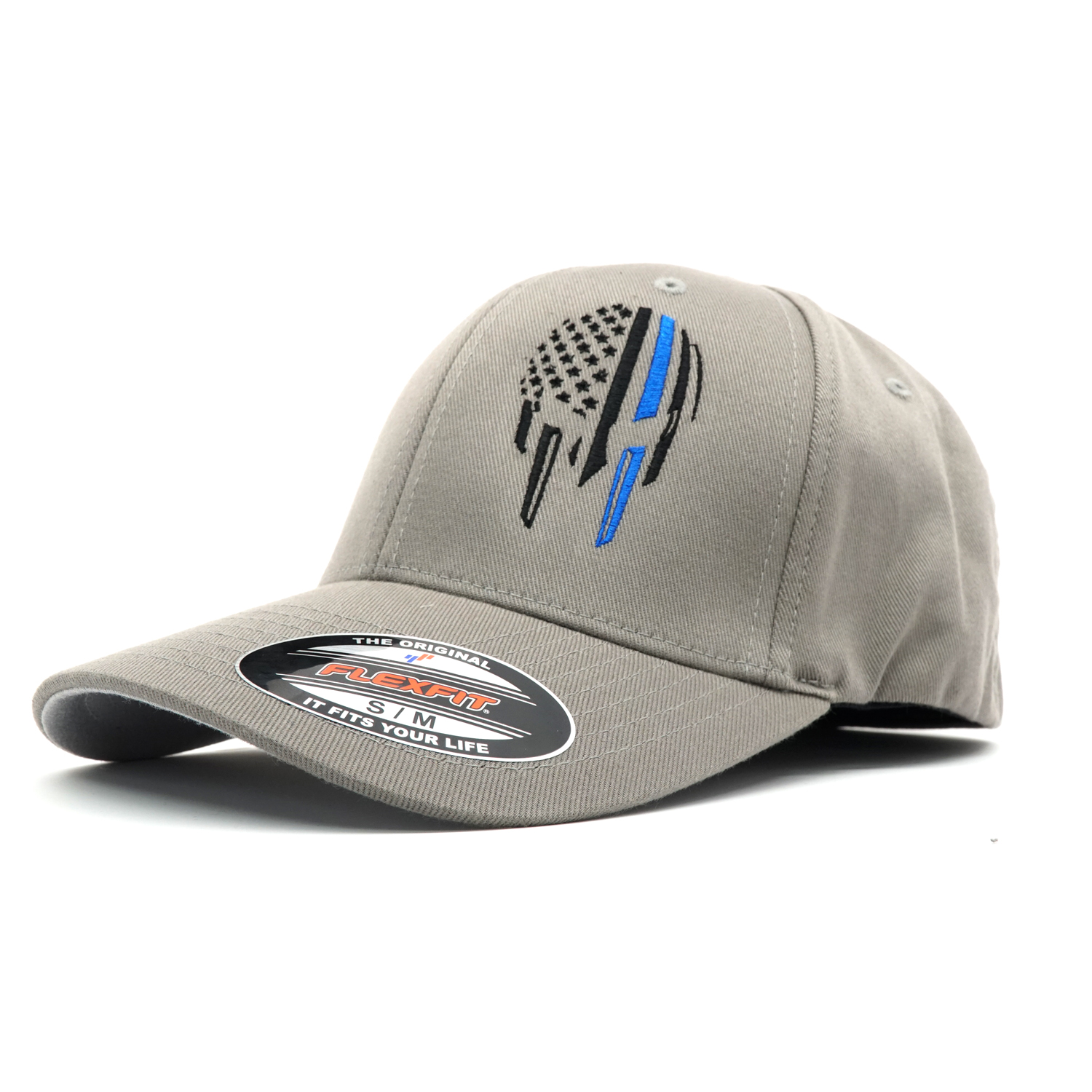 120a2d1cbfd Blue Line Warrior FlexFit Hat - ReLEntless Defender Apparel