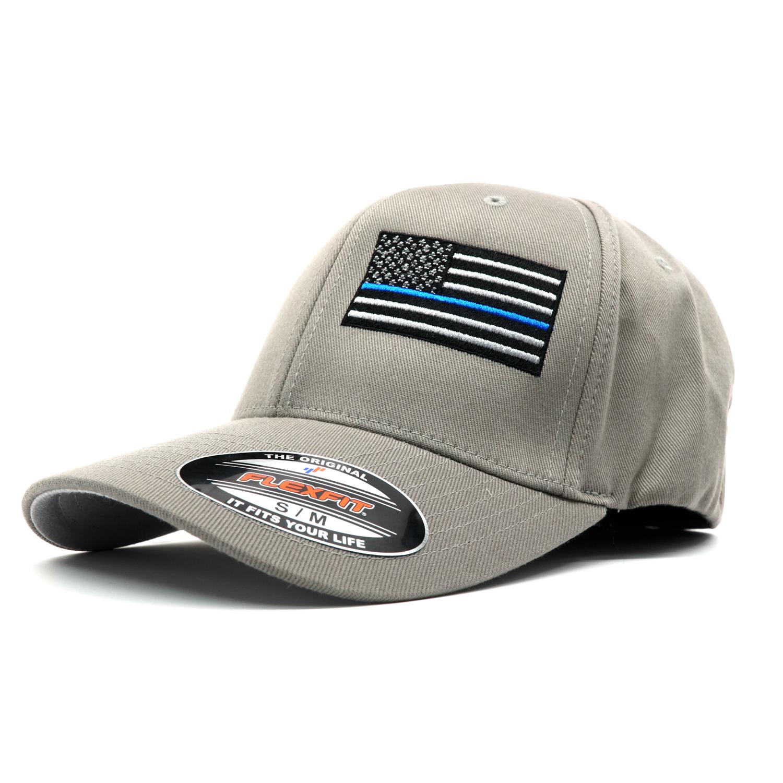 Blue Line FLAG FlexFit Hat - ReLEntless Defender Apparel 5e59ef64876e