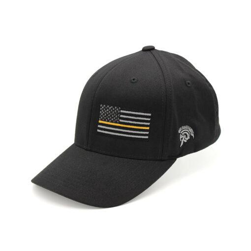 Thin Gold Line Flag FlexFit Hat