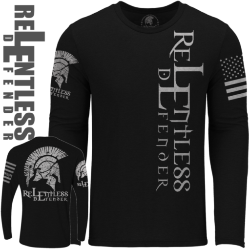 Relentless-Defender-Logo_Long_Sleeve_Black