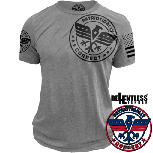 Relentless-Defender-Patriotically_Logo_Shirt_Grey